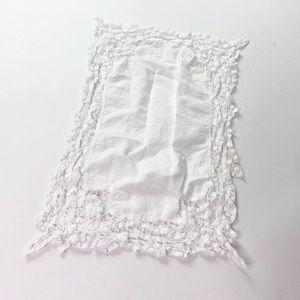 Vintage Lillian Vernon Doilie White Cotton Lace